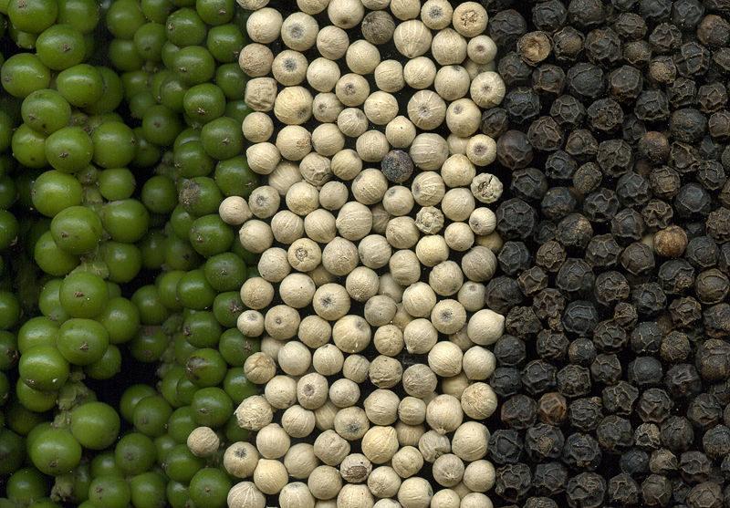 hạt tiêu đen, hạt tiêu trắng